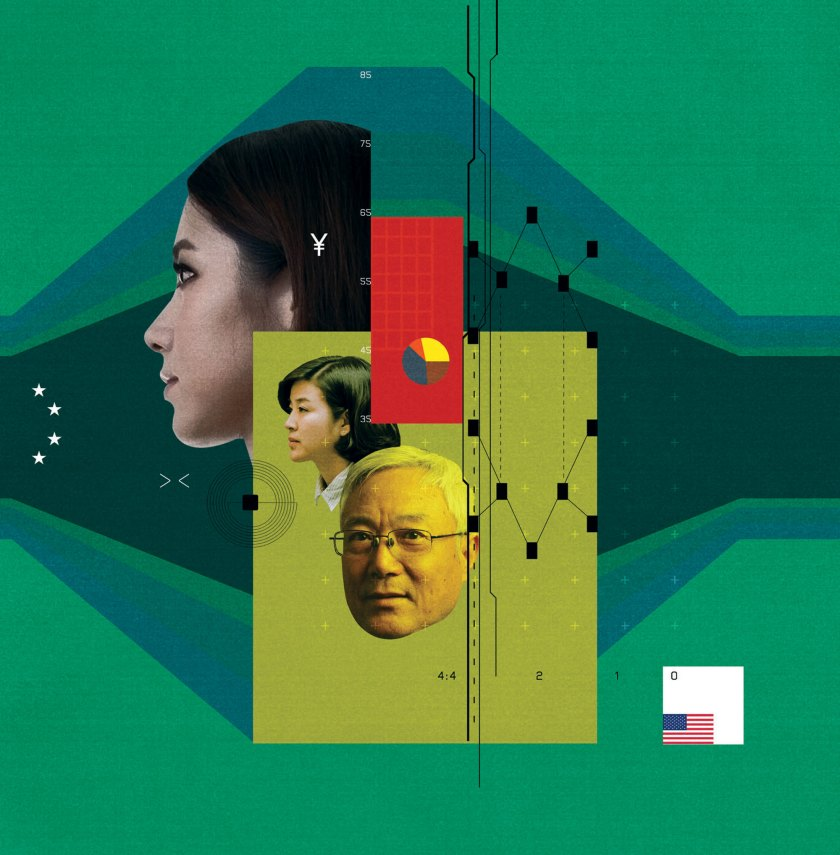 Conceptual illustration depicting innovators returning to China
