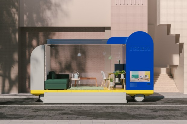 Rendering of Ikea's retail store on Wheels