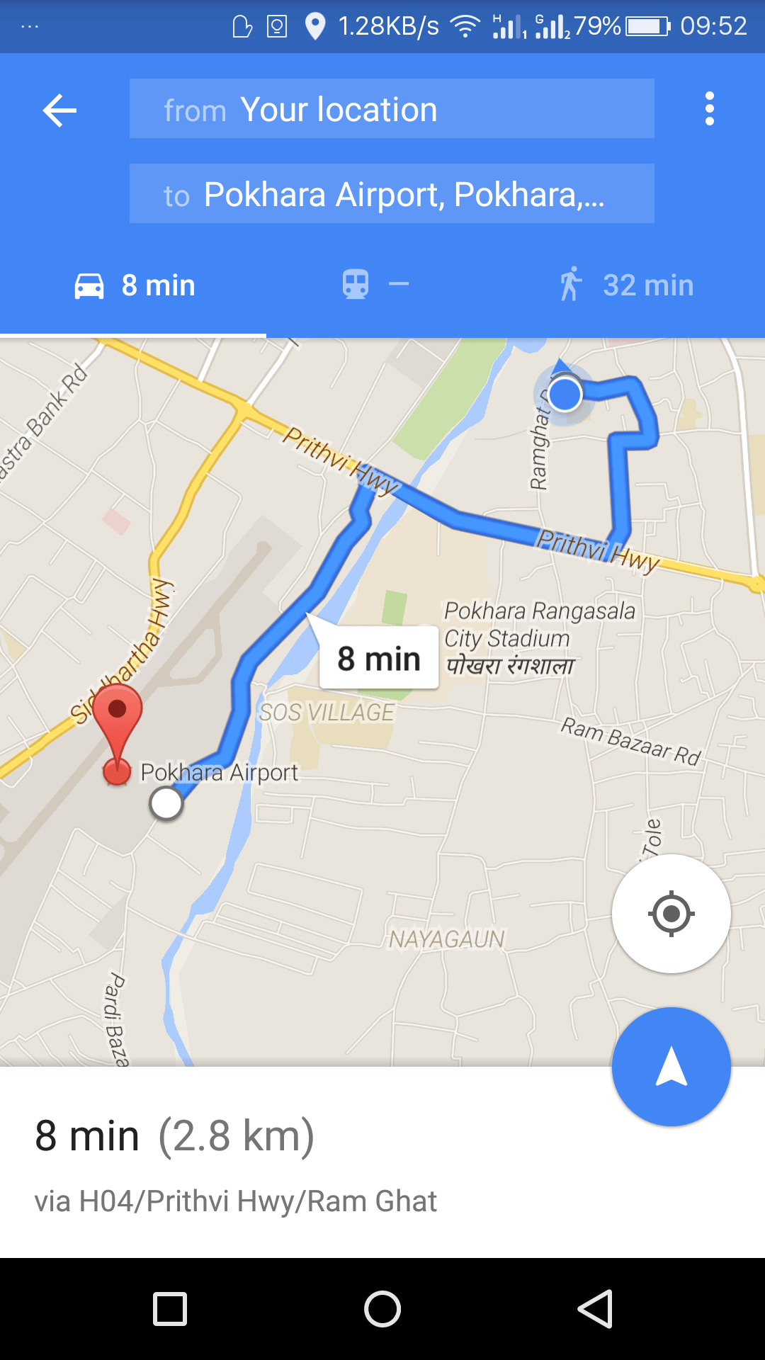 Google Maps GPS Voice Navigation now Available in Nepal on
