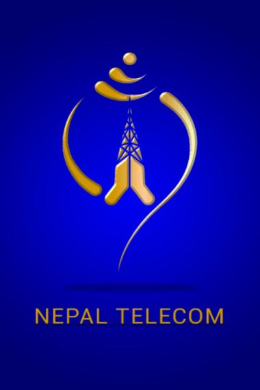 Splash screen of Nepal Telecom Android app, the company