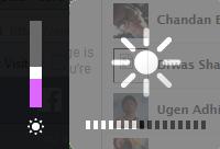 Brightness setting while laptop on battery