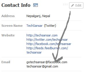 Making facebook email address NON-public