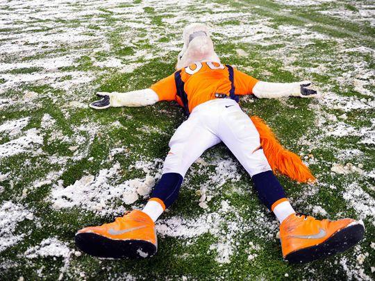 Nov 29, 2015; Denver, CO, USA; Denver Broncos mascot