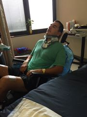 Roger Carlos in a San Antonio hospital before being