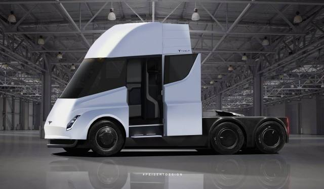 tesla semi cab interior Tesla Semis pre orders going very well   Here are the advancements!