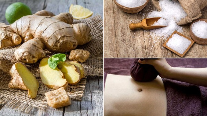 Make a hot compress from ginger