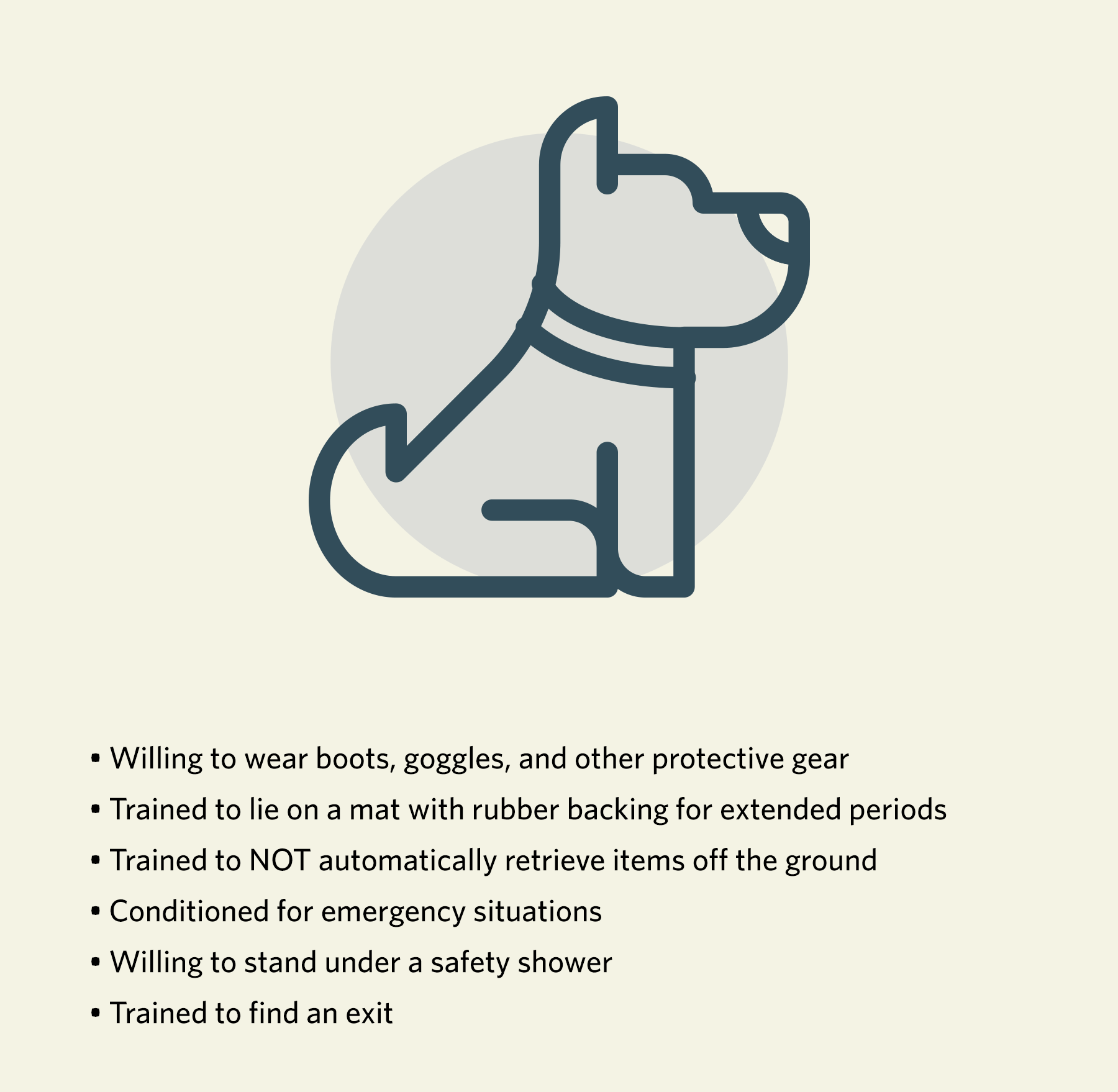 When Should Service Dogs Be Admitted Into The Lab