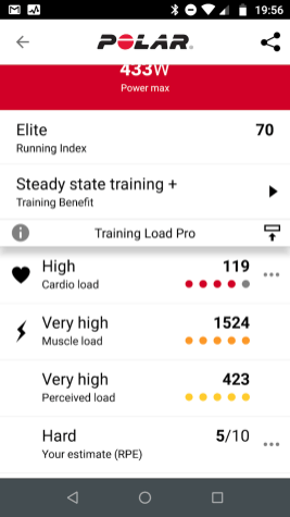 Cardio load from HR, Muscle Load from Power meter