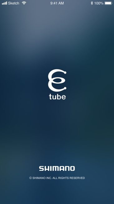 E-TUBE Startscreen