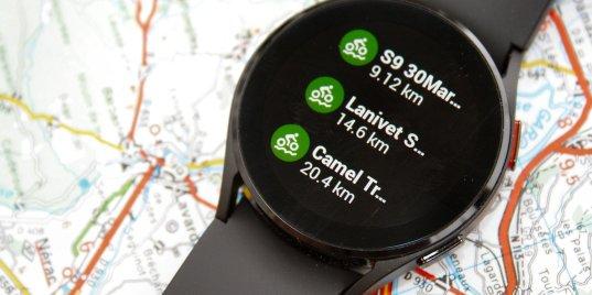 Samsung Galaxy Watch 4 komoot trips watch4 review