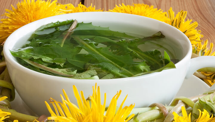 Dandelion tea can detox the body and fight chronic inflammation.