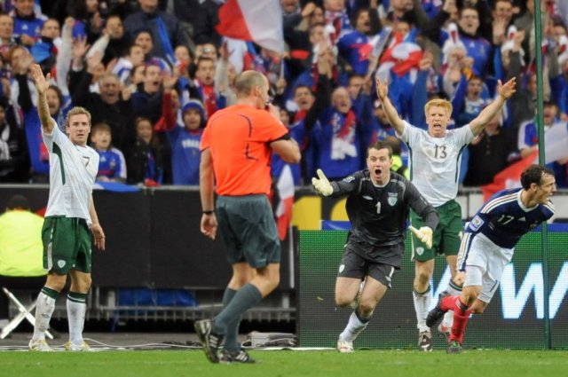 Image result for henry handball player reaction
