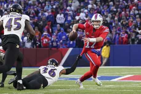 They blitzed from everywhere': Ravens' blitz overwhelms Josh Allen as Bills  offense comes up short – The Athletic
