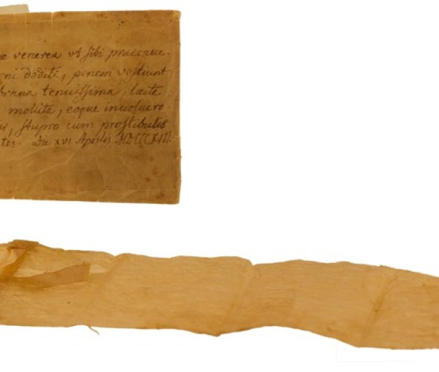 A Condom And Manual From 1813wikipedia Commons