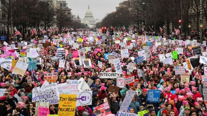 Image result for Big women rally anti Trump in Washington DC