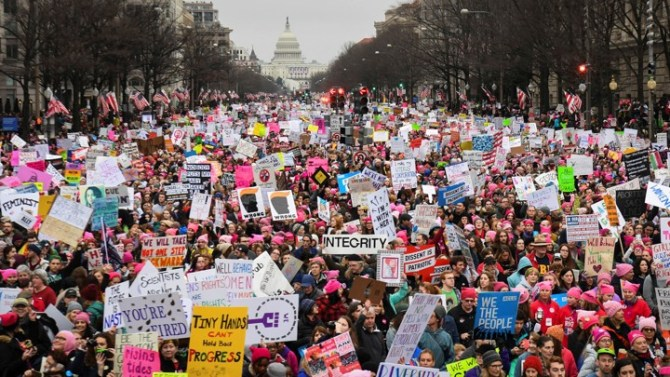 Image result for Big women rally anti Trump in Washington DC
