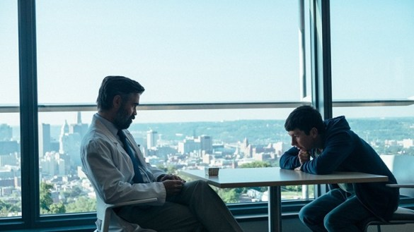 The Killing of a Sacred Deer  Review  A Macabre Delight   The Atlantic Colin Farrell and Barry Keoghan in  The Killing of a Sacred Deer