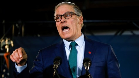 Jay Inslee, Democratic governor of Washington, launches his presidential campaign in Seattle.