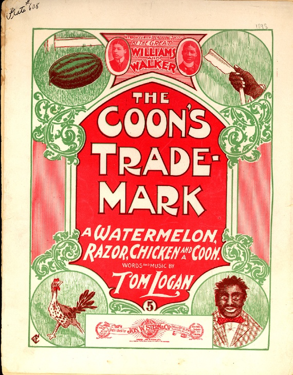 "As mass-produced pianos and sheet music became popular in the late nineteenth century, so did ""coon songs,"" popular tunes that mocked African Americans for their lazy, shiftless, childish ways. (Courtesy Brown University Library)"