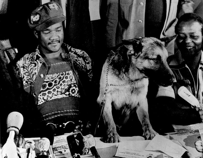 George Foreman and his dog