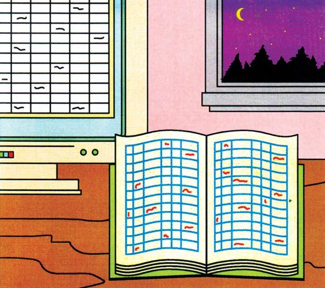 illustration of spreadsheet