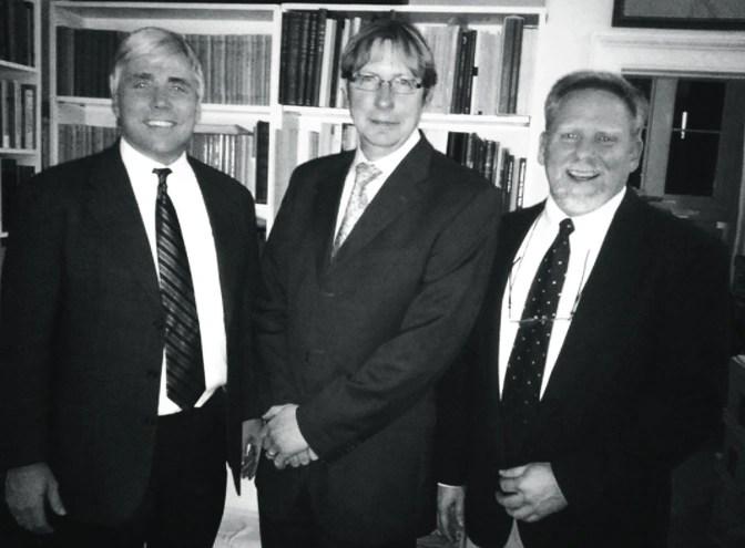2011 photo of Scott Carroll, Dirk Obbink, Jerry Pattengale