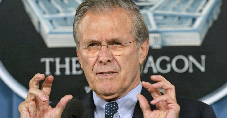 Donald Rumsfeld S Weaponized Meme Cache Home Facebook