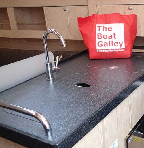 sink covers the boat galley