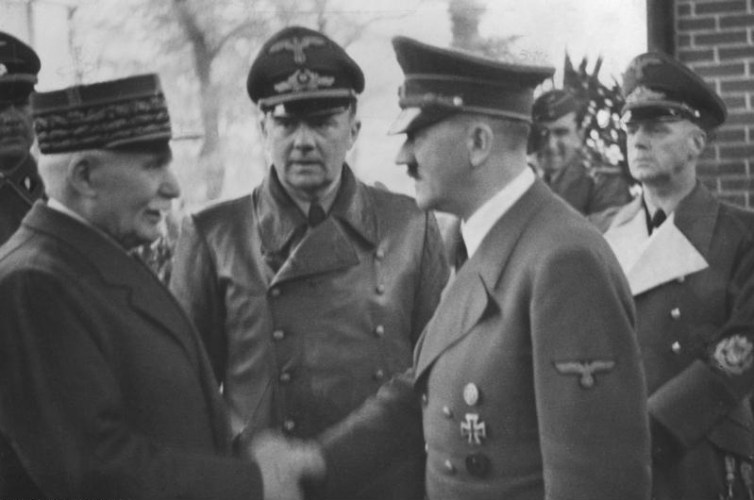 Marechal Petain of the Vichy regime with Hitler. Credit: Heinrich Hoffman/Wikimedia, CC BY-ND