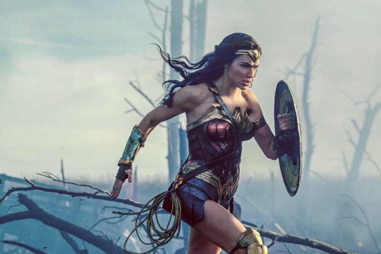 Gal Gadot as Wonder Woman: she eschews corsets, barges into men-only meetings, and compares secretarial work to slavery. Credit: Atlas Entertainment/Cruel & Unusual Films/DC Entertainment/The Conversation