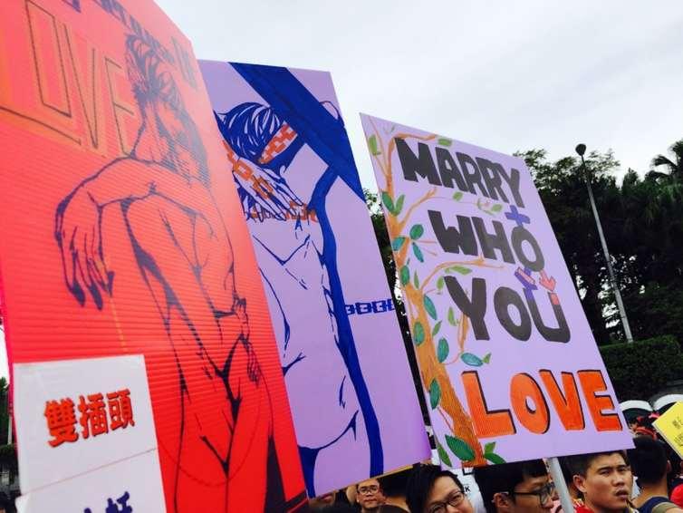LGBTQ Pride in Taiwan. Credit: Flickr/yclou