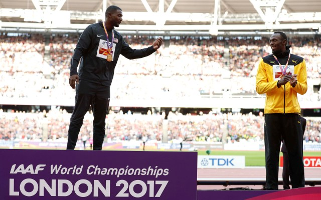 Is he the greatest? Usain Bolt's not used to picking up the bronze medal as he did after his final 100m race when Justin Gatlin took gold at the World Athletics Championships in London. Reuters/Phil Noble