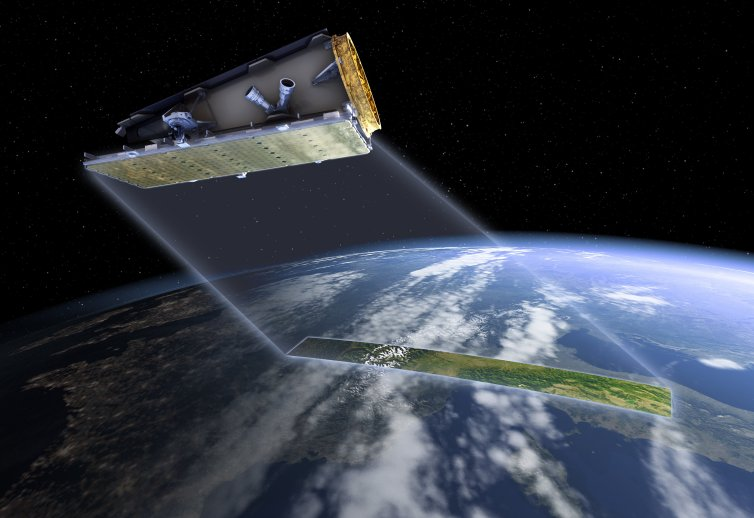 NovaSAR-S will image Earth in all weather conditions, both day and night (computer generated image). SSTL, Author provided Alex Held, CSIRO