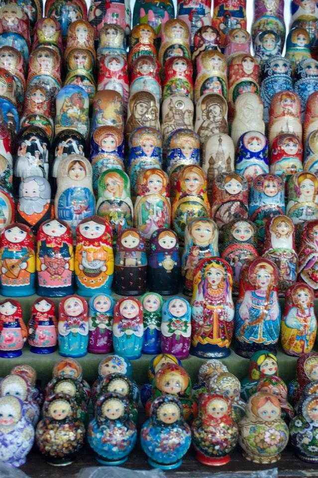 Rows and rows of matryoshki souvenirs at Izmailovsky market   Courtesy of Stefan Hunt