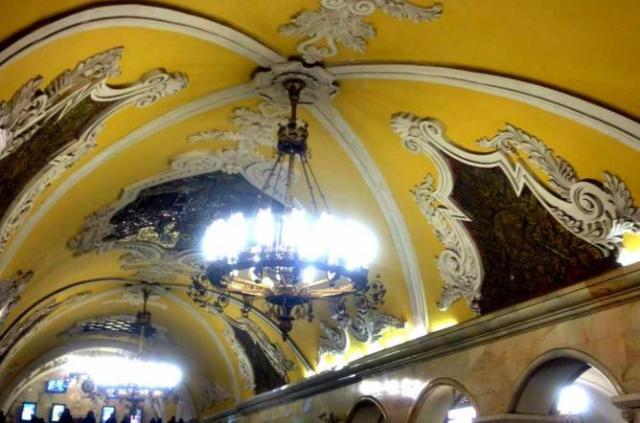 Komsomolskaya metro station   Courtesy of Marianna Hunt
