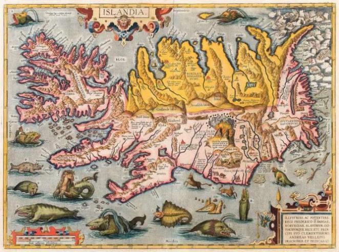 16th Century map of Iceland | Public Domain/WikimediaCommons