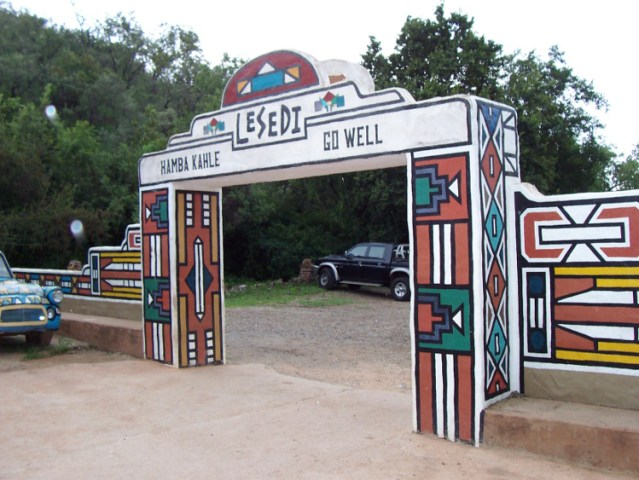Exit at Lesedi Cultural Village | © Stephantom/Wikicommons
