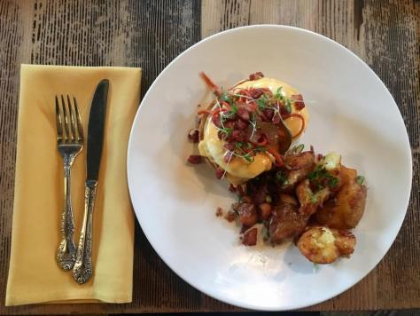 Pork Belly Benedict, Courtesy of Longman Eagle
