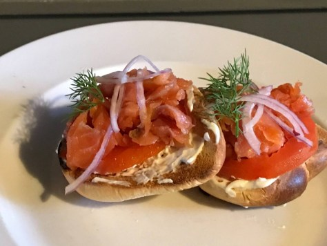 Bagel and lox, Courtesy of Later Alligator