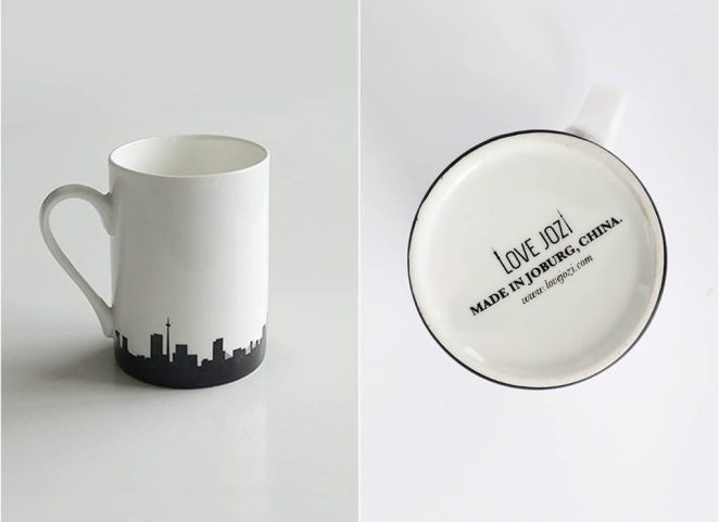 Love Jozi skyline mug