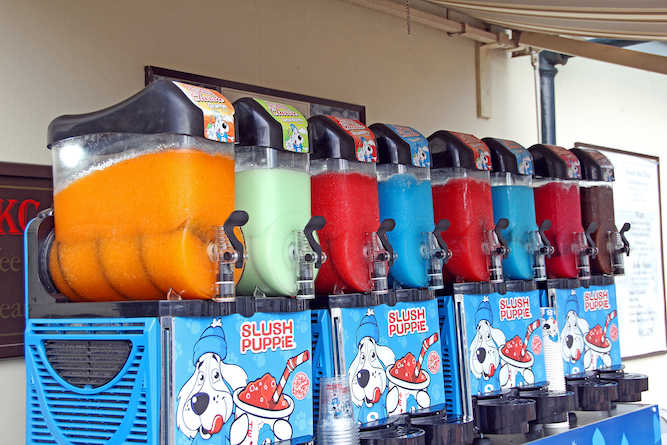 Slush Puppies volunteer to be thrown at twats
