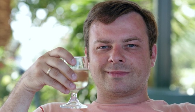 Man given glass of wine at 1pm has no option now but to keep drinking