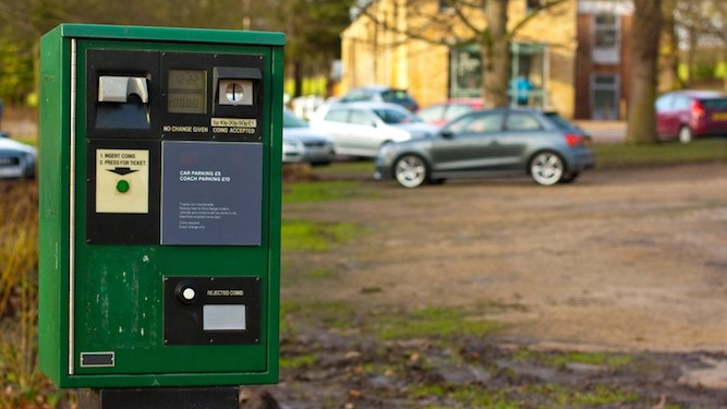 Man committed to reaching ticket machine without opening car door