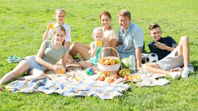 Posh twat family commandeers two square miles of park for picnic