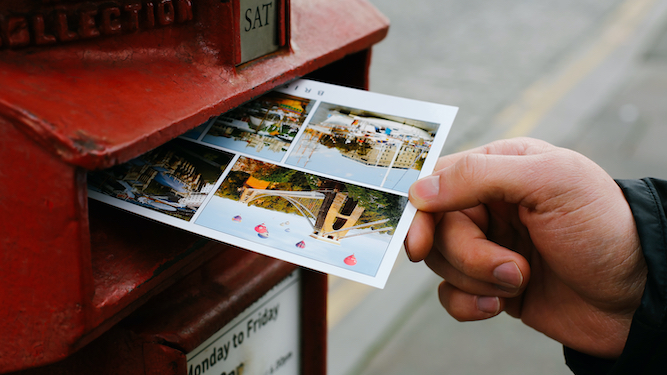 Staycationers sending pathetic little postcards