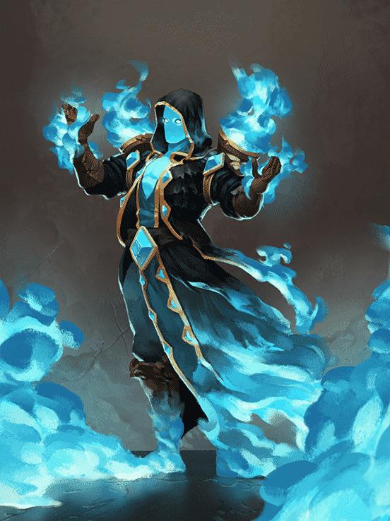 Fire Elemental Assassin Illustration Art The Design