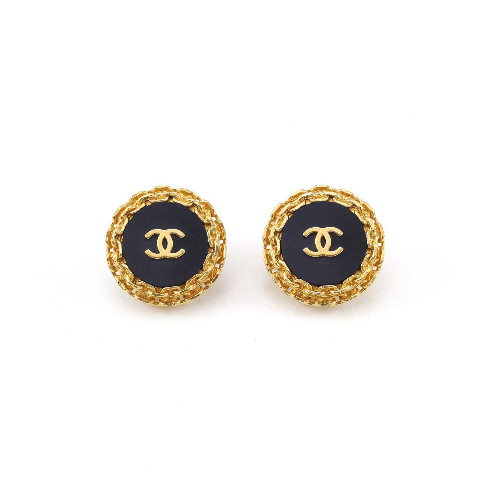 Second Hand Chanel Button Clip Earrings THE FIFTH COLLECTION