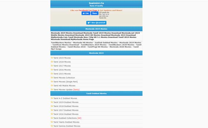 Isaimini Moviesda 2021 – Isaimini Tamilrockers Tamil HD Movies Download