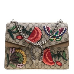 2d503fe49cd9 Buy Gucci Beige Gg Supreme Canvas Embroidered Dionysus Shoulder Bag