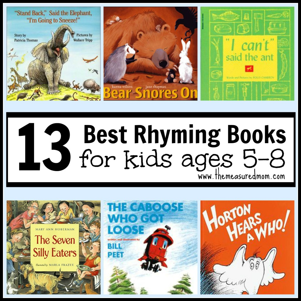 Best Rhyming Books For Kids Ages 5 8